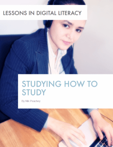 Studying How to Study – Lessons in Digital Literacy