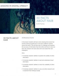 50 Facts about Hair – Lessons in Digital Literacy