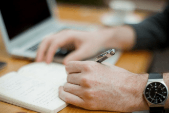 Don't stare – start writing instead