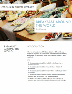 Breakfast around the World – Lessons in Digital Literacy