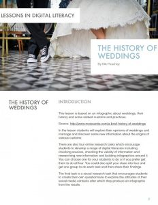 The History of Weddings – Lessons in Digital Literacy